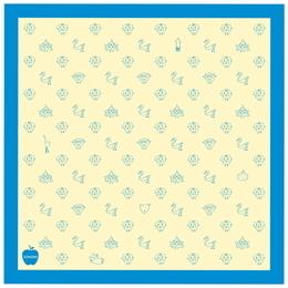 モノグラムハンカチ[ブルー]