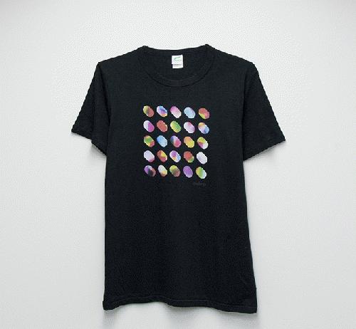Design  T shirt・cocoon#37【Black】