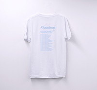 Tour T shirt #31 【White&Pastel Blue】