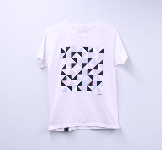 Design T shirt・Prism #32 【White】