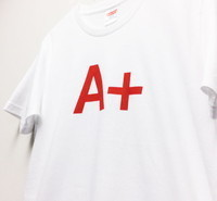 Design T shirt・A+ #34 【White&Red】