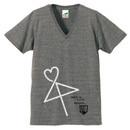 VネックTシャツ【グレー】