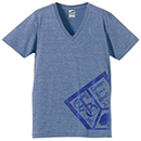 VネックTシャツ【ブルー】