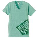 VネックTシャツ【グリーン】