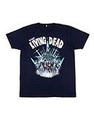 THE LIVING DEAD TEE NAVY