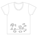 【古川未鈴 2015年生誕グッズ】イラストTシャツ/ホワイト