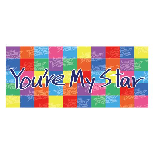 HALFWAY STAR TOUR FINAL記念  ファンキー加藤直筆メッセージプリントフェイスタオル