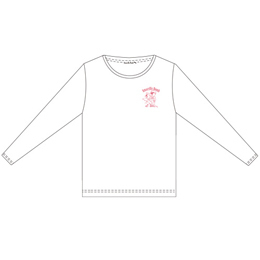Amaryllis Bomb EMOTION Tシャツ(長袖・白・L)