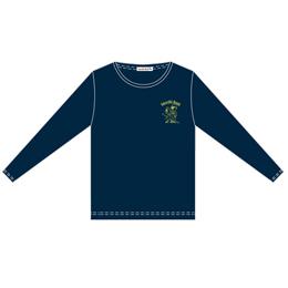 Amaryllis Bomb EMOTION Tシャツ(長袖・ネイビー・M)