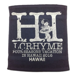 「FOUR SEASONS VACATION IN HAWAII 2016」 ハンドタオル(紺色)