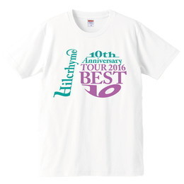 Hilcrhyme 10th Anniversary TOUR 2016 BEST10 Tシャツ白
