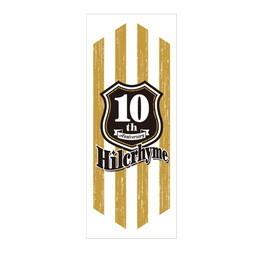 Hilcrhyme 10th Anniversary フェイスタオル[白]