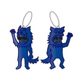 臆病なパーソナルCOLOR狼キーホルダー