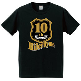 Hilcrhyme 10th Anniversary Tシャツ黒