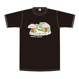 レンちゃん親子の春さんぽTシャツ/ブラック
