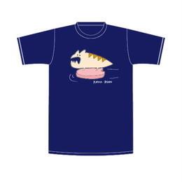 レンちゃんのビート板Tシャツ/ネイビー