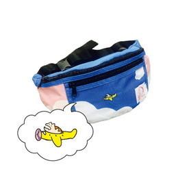 ひこうきとレンちゃんの青空ウエストバッグ