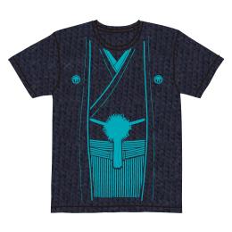 伽羅古袴Tシャツ【ネイビー×マリンブルー】