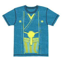 伽羅古袴Tシャツ【ターコイズ×クリームイエロー】