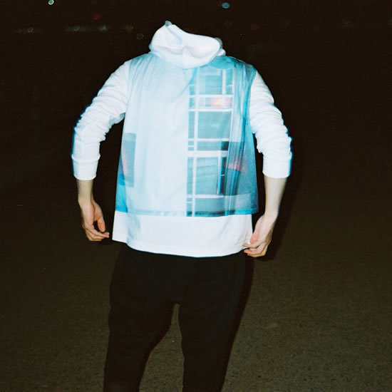 NF06 PHOTO MESH PARKA(white)