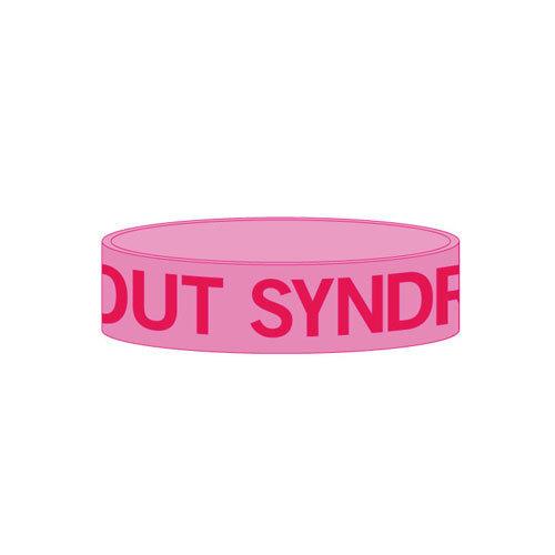 【BURNOUT SYNDROMES】ロゴラバーバンド(ピンク)