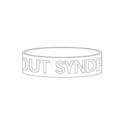 【BURNOUT SYNDROMES】ロゴラバーバンド(ホワイト)