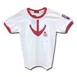 ヤマトコラボグッズ 宇宙戦艦ヤマト2199×大阪市音楽団コラボTシャツ【白×赤】
