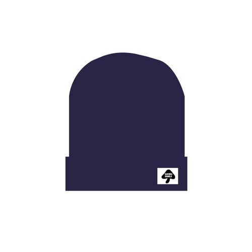 [さくらしめじ]ニット帽子(紺色)