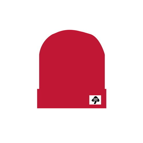 [さくらしめじ]ニット帽子(赤色)