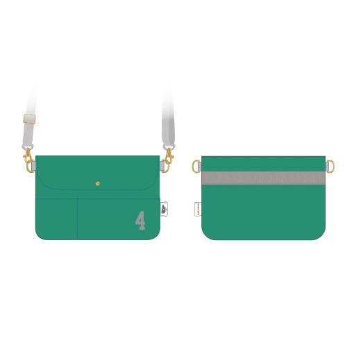 [超特急×BEAMS DESIGN]Trans NIPPON Express ショルダーポーチ(緑)