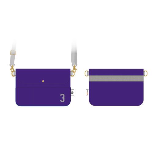 [超特急×BEAMS DESIGN]Trans NIPPON Express ショルダーポーチ(紫)