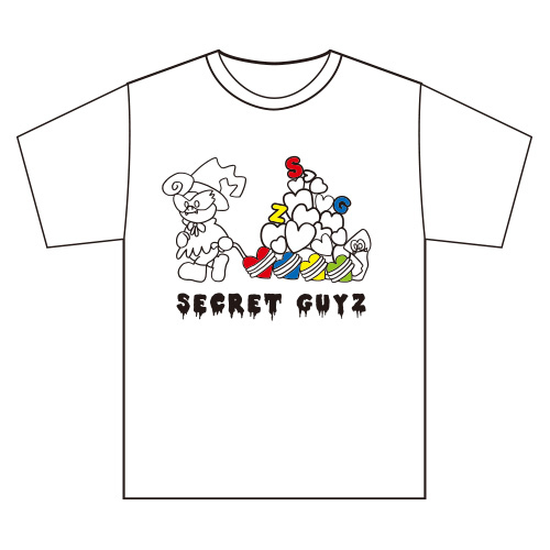[SECRET GUYZ]IKENIE PARTY箱推しTシャツ(白)
