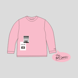 """""""THE FUTURE WITH ME"""" ロングTシャツ -Baby Pink"""
