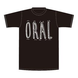 手書きロゴTシャツ【ブラック】