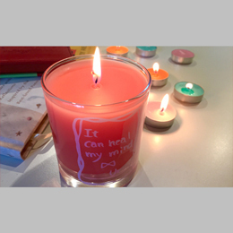 Uru message candle