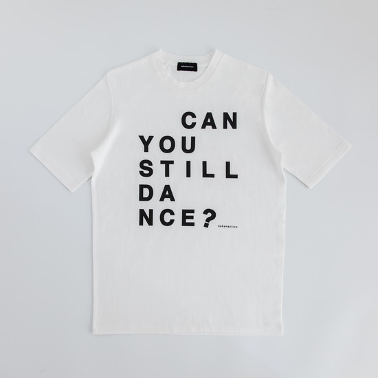 """Can you still dance?"" SPLIT RAGLAN TEE White"