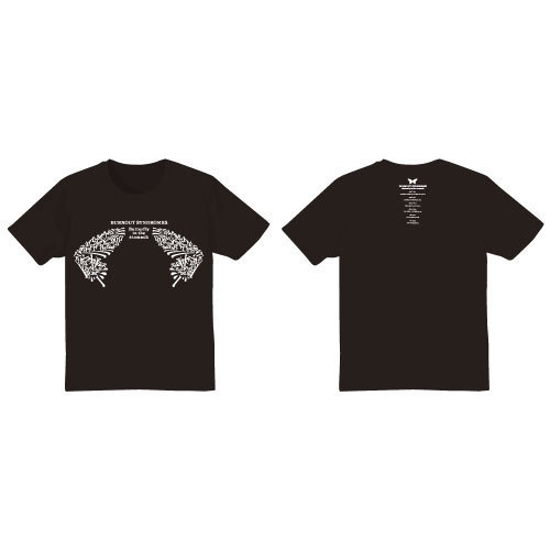 【BURNOUT SYNDROMES】Butterfly in the Stomach Tシャツ(烏羽色)