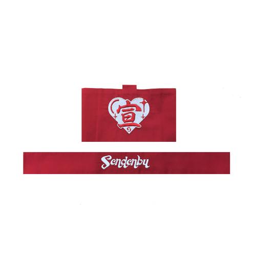 [ときめき宣伝部]宣伝部員のための基本的ハチマキ&腕章(赤)
